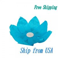 Atacado-Ship Dos EUA Papel Lotus Flower lanterna Desejando Light Blue 14001591