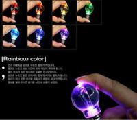 anillo de bombilla de flash al por mayor-2016 Creativo LED de iluminación brillante Mini bombilla colorida llavero llavero llavero linterna bombilla llavero llavero antorcha