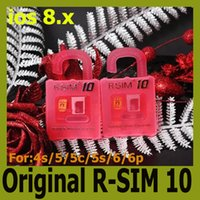 Wholesale Original R SIM rsim R SIM Unlock Card r sim for iphone S C S plus iOS6 X X Support Sprint AT T T mobile Cricket