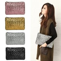 Wholesale Women Wallet Fashion Style Sparkle - New Fashion Dazzling Glitter Sparkling Bling Sequins Evening Party purse Bag Handbag Women Clutch wallet