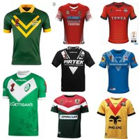Wholesale England Rugby Xxl - 2017 2018 Fiji Ireland World Cup NRL Jersey England rugby shirt 17 18 kiwi tonga rugby Jerseys SAMOA kiwis NRL National Rugby League Austr