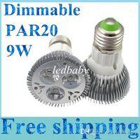 Wholesale spotlight bulb sale resale online - Hot Sale W Par20 E27 E26 LED SMD Dimmable Spotlight LED Light bulb lamp Warm Pure Cool White ool White