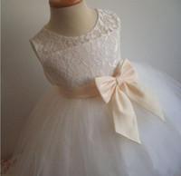Wholesale Linen Lace Wedding Dresses - White linen flower girl dress. White flower girl dress, country rustic flower girl dress. Toddler girls white linen dress. Girl ruffle dres