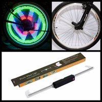 Wholesale Double Bicycle Light - Retail Order 48LED Bicycle Bike Programmable Wheel Light Double-Side display 48 DIY Designs Patterns Rim Lighting Sports Bicycle Accessories