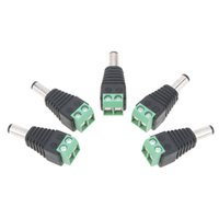 5 PC 5,5 millimetri x 2,1 millimetri di corrente continua connettore maschio Plug Adapter per 5050 3528 5730 5630 striscia luminosa a LED e G4
