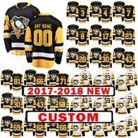 Personalizzato 2018 New Pittsburgh Penguins 59 Jake Guentzel 23 Scott Wilson Jersey 81 Phil Kessel 72 Patric Hornqvist 8 Brian Dumoulin Maglie