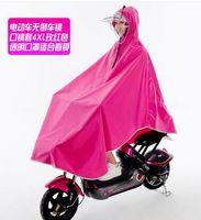 Wholesale Bicycle Rain Gear - Wholesale, individual driver ride bicycle Motorcycle raincoat poncho rain gear Oxford cloth visor mask dual