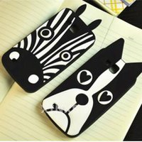 Wholesale Galaxy Premier Case Wholesale - For Sansung Galaxy Premier Mega 6.3 2 Note3 Neo Note4 Core Prime Grand Alpha G850 Soft Silicone Cell Phone Case Back Cover Zebra and Dogs
