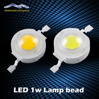 Wholesale Led Lamp Beads 1w - LED 1W High Power Light bead 100-120LM Bulb Lamp White Warm White 300mA 3.2-3.4V 100-120LM 30mil Free Shipping