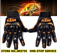Wholesale Full Finger Armor - KTM Brand Motorcycle Glove Full Finger Motocross Armor Guantes Motor Bicycle Gloves