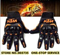 dedo completo de la bicicleta al por mayor-Guantes KTM Brand Motorcycle Full Finger Motocross Armor Guantes Motor Guantes de bicicleta