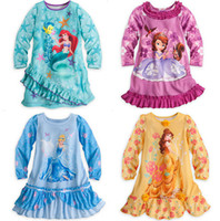 Wholesale Lace Baby Sleepwear - New Baby Girl Dress Autumn Spring Kids Cartoon Princess Dress Long Sleeve Dress Baby Girl Cartoon Sleepwear