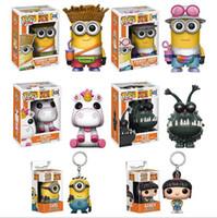 Wholesale Despicable Pvc Figures - New hot sale FUNKO Pop Despicable Me Minions king Bob Minions Boxed PVC Collection 12CM gift for children