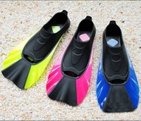 Wholesale Swimming Flippers Submersible - Submersible Flipper Long Fins Snorkeling Adjustable Submersible Swimming Snorkel Diving Swim Fins Palm Flying Fish Webbed New