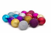 Wholesale Blue Baubles - Middle 1.6 inch Plastic Bauble,Decoration Christmas Balls To Decorate Chrismas Tree Christmas decorations Plastic Ball free shipping CB0101
