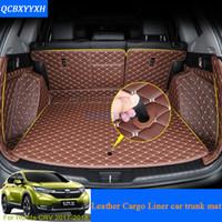cubeta para el maletero al por mayor-Para Honda CRV CR-V 2017 2018 Car Boot Mat Rear Trunk Liner Cargo Floor Carpet Bandeja Protector Accesorios Pegatina Perro Mascota Cubierta