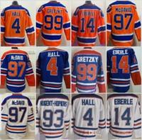 Wholesale Coffey Jersey - Cheap Men's 4 Taylor Hall 7 Paul Coffey 14 Eberle 17 Jari Kurri 93 Ryan Nugent-Hopkins Edmonton Ice Hockey Jerseys