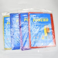 Wholesale Travel Emergency Poncho - Disposable Raincoat Adult One-time Emergency Waterproof Raincoat Hood Poncho Travel Camping Must Rain Coat Outdoor Rain Wear CB204