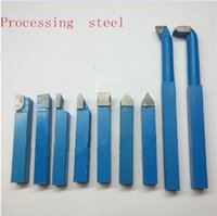 Wholesale Small Lathe Machines - 9PCS 10 x10 a combination DYI small lathe Carbide lathe tool Processing steel cutting too