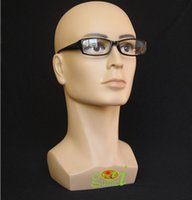 Wholesale Mannequin Male Dummy - Free Shipping Mannequin Manequin Dummy Realistic Plastic Male Mannequin Head For Wig Sunglass Scarf Jewelry Hat Display