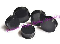 Wholesale Large Ear Tunnels - New Arrival Ear Plug Flesh Tunnel Ear Piercing Expander Large Size 22 24 26 28 30mm Black silicone Fashion Earring Body Jewelry