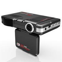 grabadora de vídeo del vehículo videocámara al por mayor-2 en 1 cámara del coche DVR Cámara del vehículo Video Recorder Dash Cam Registrator Videocámara + Radar Detector de velocidad láser Visión Nocturna