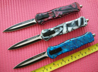 Wholesale Resin Handles - 5 Styles BM D A Infidel Dagger McHenry design D2 steel 59HRC Double edge smooth action Resin handle Tactical knife knives w  sheath