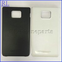 Wholesale Back Cover Battery S2 - 50pcs lot Battery plastic Housing back Cover Case Replacement Parts for Samsung Galaxy S2 I9100 I9105 with logo