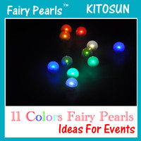 Wholesale Pink Floating Pearls - Multicolor Waterproof 11 Colored Battery Operated Floating LED Light Magic LED Fairy Pearls Led Light 48Pcs Pack