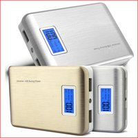 Wholesale Power Pack S4 - Power Bank Chargers 20000mAh Universal Portable External Cylinder with LED display 2 USB Charger Pack for iPhone Samsung S4 S5