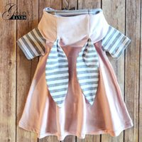 Дети Pretty Girls Летнее платье Cute Rabbit Ear Hoodies Design Stripped Pink Shorts Sleeve для детских платьев