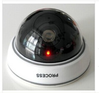 Wholesale Fake Security Cameras Free Shipping - 2015 New Dummy Fake Surveillance CCTV Security Dome Camera OutdoorFlashing Red LED Light 60 pcs via DHL Free shipping