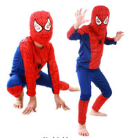 Wholesale Zorro Costume Kids - free dhl children's cosplay clothes sets spiderman superman batman zorro cosplay costumes halloween christmas kids clothing 6 designs style