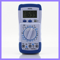 Wholesale Pocket Multimeter - Pocket DMM Digital Multimeter A830L Ammeter Multitester Voltmeter Megohmmeter Ohmmeter hFE Current Tester with LCD Backlight