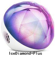 ingrosso palla blu bluetooth-Altoparlante Bluetooth originale Yantouch Ice Diamond Plus al 100%, Diamond Black Diamond colorato brillante con altoparlante magico orologio sveglia