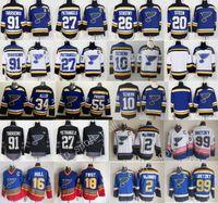 Wholesale Paul Stastny - 2018 AD St. Louis Blues Jerseys Hockey 91 Vladimir Tarasenko 27 Alex Pietrangelo Alexander Steen Brayden Schenn Colton Parayko Paul Stastny