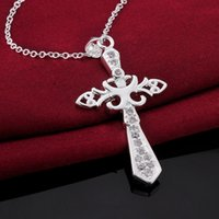 Cross Styles colares Cool Romantic 925 Pure silver N565 gift women men Moda New Jewelry Brincos de Prata