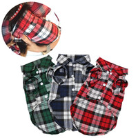 Wholesale Army Dog Shirt - Wholesale Plaid Dog Clothes Summer Dog Shirts for Small Medium Dogs Pet Clothing Yorkies Chihuahua Clothes Best Sale 11by23