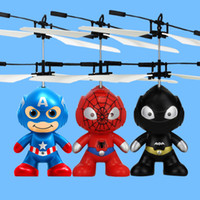 Wholesale Motor Black Toy - RC Toy Flying remote control Spaceman Helicopter induction aircraft toy helicopter drone indoor children gift Toys