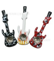 Wholesale Guitar Length - free shipping ----- 2015 new GT-1297 character modeling guitar instrument metal pipe   metal bong, product dimensions: length 10.8X 3.3X wid