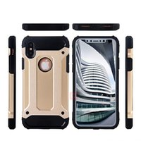 SGP Rugged Neo Hybrid Armor Heavy Duty Slim Tough Case para iPhone 7 8 mais iPhoneX Samsung Galaxy S7 Edge S8 + PC + TPU Shockproof Cover