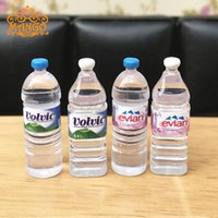 Wholesale miniature dollhouses - 1:12 Miniature Mineral Water Bottles Dollhouse Kitchen Accessories