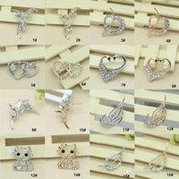 cristal de borboleta de gato venda por atacado-32 estilo pinos broches para venda de cristal strass buquê de flores borboleta gato broche pinos de jóias por atacado com desconto-0003DR