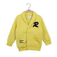 sudadera con capucha amarilla 3t al por mayor-Alta calidad 2017 niños camiseta sudaderas ropa niños niñas carta manga larga suéter con capucha niños negro amarillo 2 colores