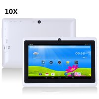 10X más barato 7 pulgadas capacitiva Allwinner A33 Quad Core Android 4.4 doble cámara Tablet PC 8GB 512MB WiFi EPAD Youtube Facebook Google A-PB