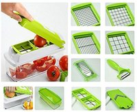 Wholesale Dice Cut - 2015 new !!! Nicer Dicer Plus kitchen set Multi Chopper Vegetable Cutting Dicing Slicing Kitchen Gadget Peeler 11different Ways to Cut