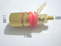 encadernação venda por atacado-100 PCS Banhado A Ouro pós alto falante amplificador para 4 MM Banana Plug