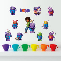 Wholesale Alien Wall - Fashion cartoon movie Home wall sticker cute aliens and human cartoon wall decal living room crazy aliens wall decoration home decor