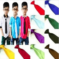 Wholesale Kids Ties For Sale - Hot Sale Kids Fashion Accessories Boys Neck Silk Ties Baby Neckties For Wedding and School Free Shipping