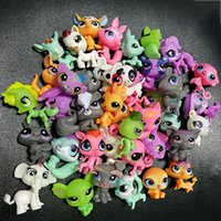 """Wholesale Little Plastic Animal Toys - Little Pet Shop 2.4"""" LPS Toys Animal Cartoon Cat Dog Action Figures Collection toys for kids,mixed styles ship out random"""